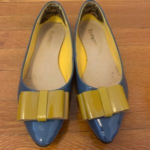 """Restricted blue """"nectarine"""" flats 8 ModCloth"""